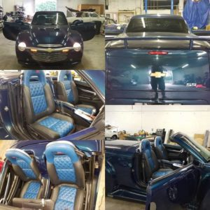 2005 Chevy SSR Leather Seats with Double Diamond Pleat
