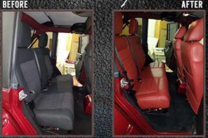 Cloth Seats to Leather Seat Makeover