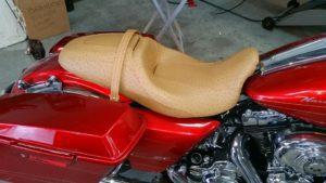 Harley Davidson Tan Ostrich Seat