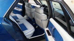 Custom platinum gray and blue Oldsmobile 98