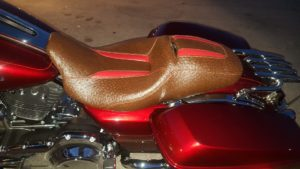 motorcycle seat brown leather
