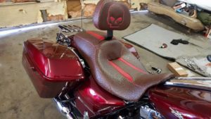 motorcycle seat ostrich