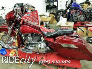 ride city customs motorcycle seat