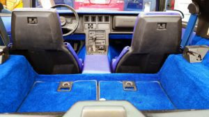View from Back Corvette Blue Interior