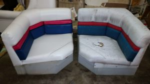Boat Upholstery Before and After