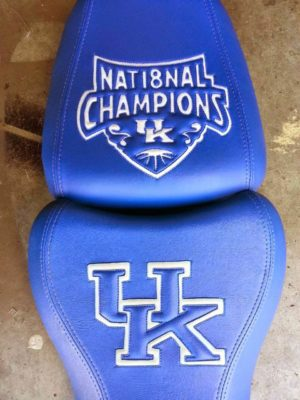University of Kentucky National Championship Motorcycle Seat