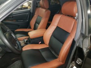 Lexus Black and Brown Leather Interior