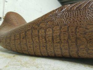 Close Up of Alligator Motorcycle Seat