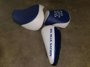 Custom University of Kentucky Motorcycle Seat