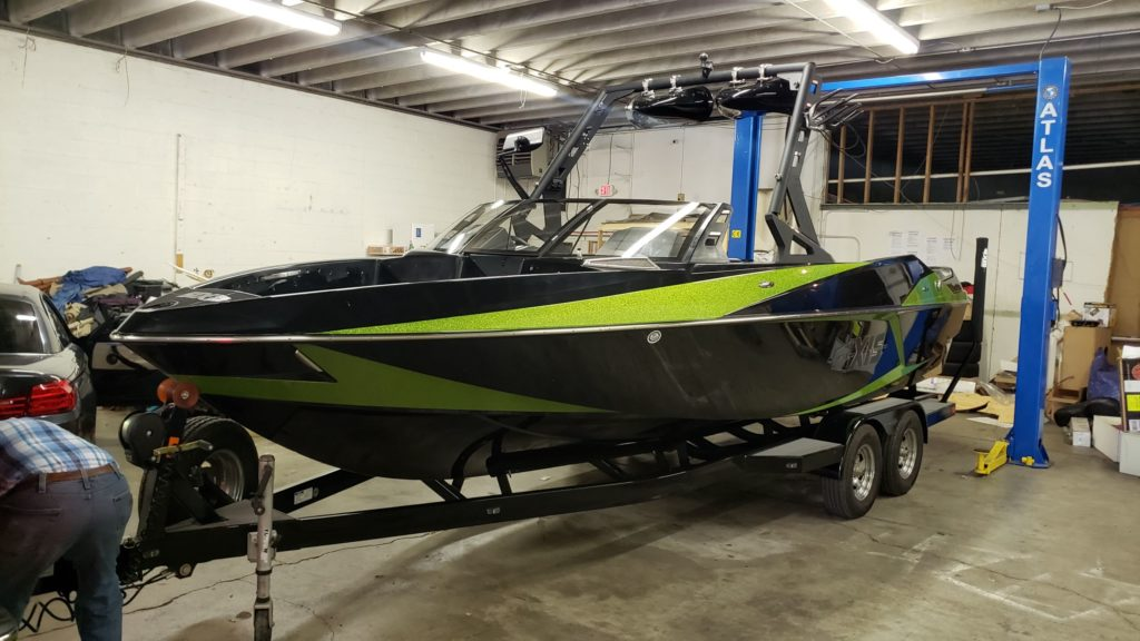 AXIS T23 WAKEBOARD BOAT INTERIOR BEFORE AND AFTER