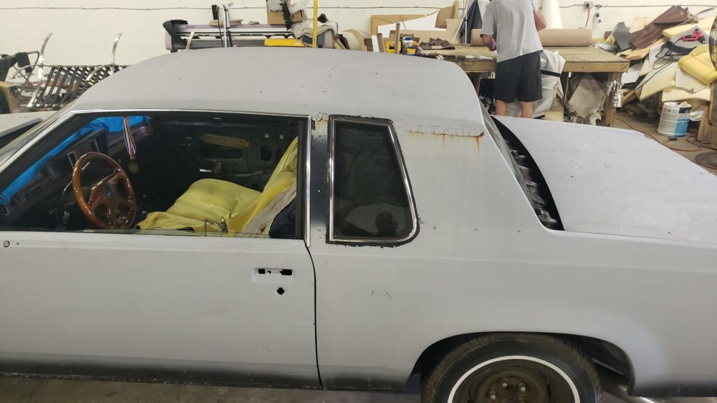 Oldsmobile Cutlass Vinyl Top Install Before and After