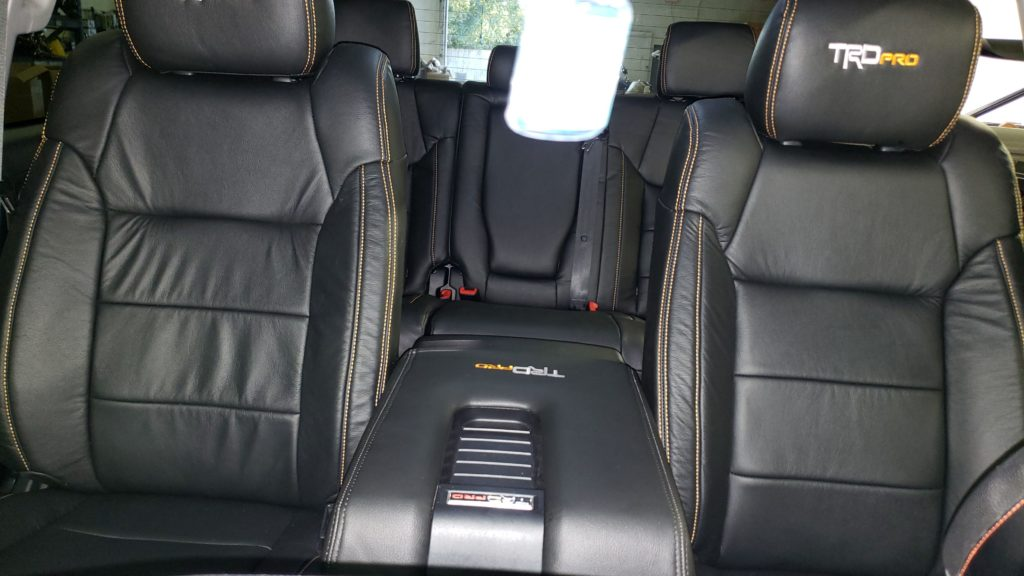 2017 Toyota Tundra Cloth to Leather Upgrade with Embroidery