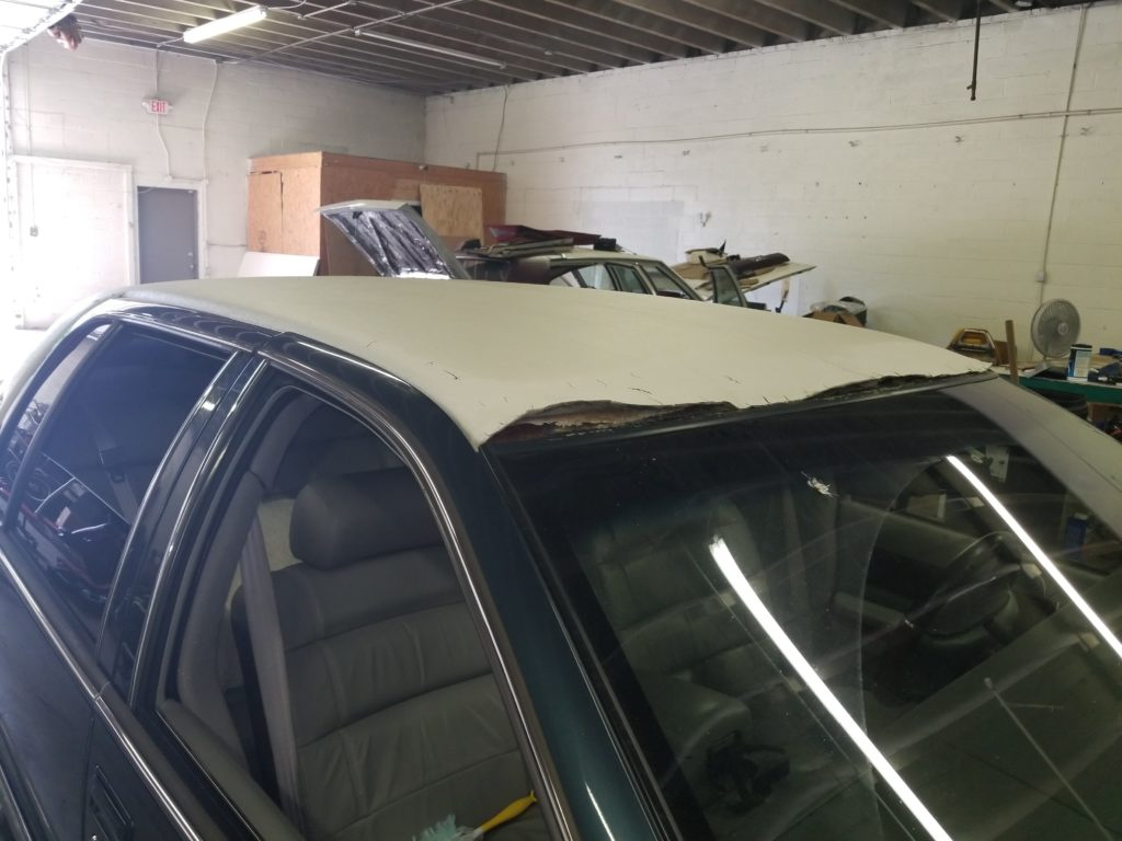 Cadillac Vinyl Top Installation Before and After