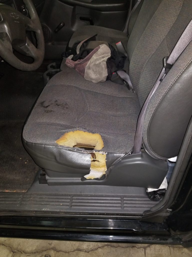 Driver Seat Repair Before and After