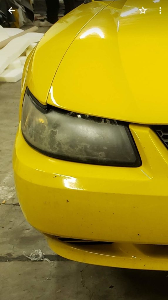Ford Mustang Headlight Restoration Before and After