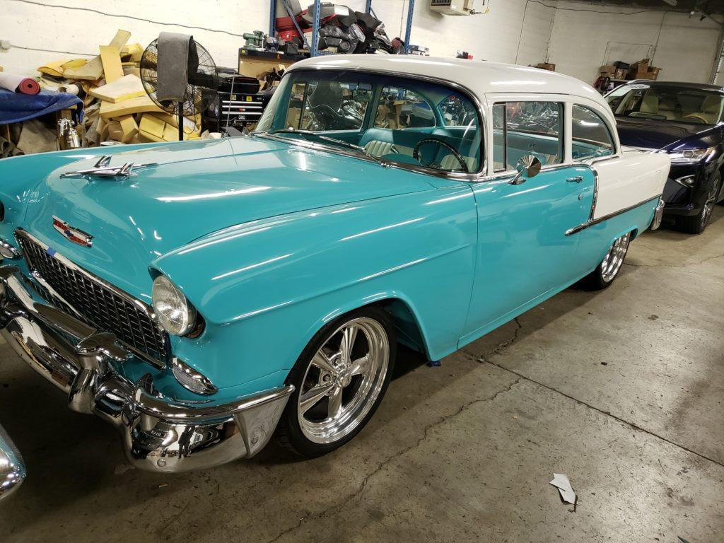 1955 Chevrolet 210 Sedan Carpet Installation